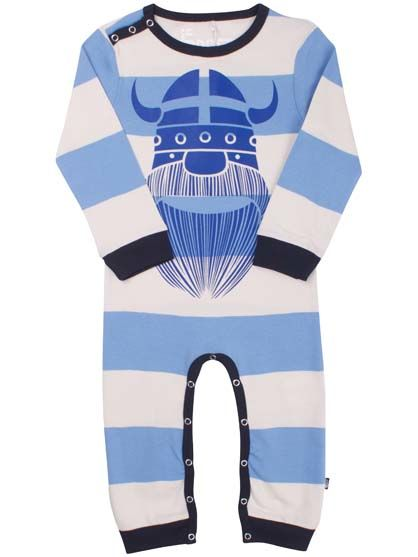 Image of   Snooze Suit Off White/Waterblue TRAKTHOR