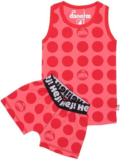Image of   Hvalpe Set Tropical Pink/Red DOTS