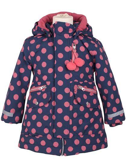 Image of   Kirstine Winter Jacket DkSlate/Rhubarbe DOTS
