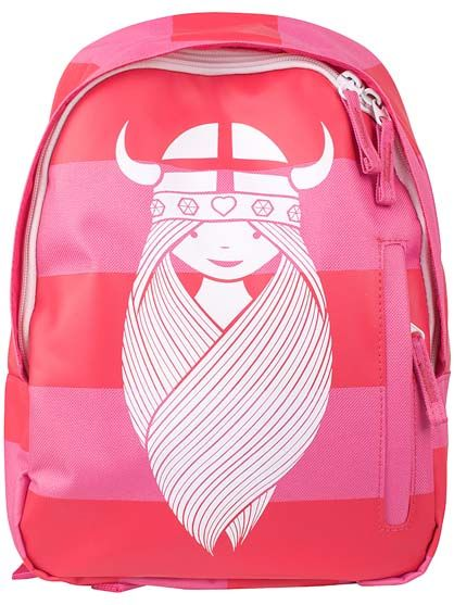 Kids Backpack See-me Pink/Deep raspberry FREJA