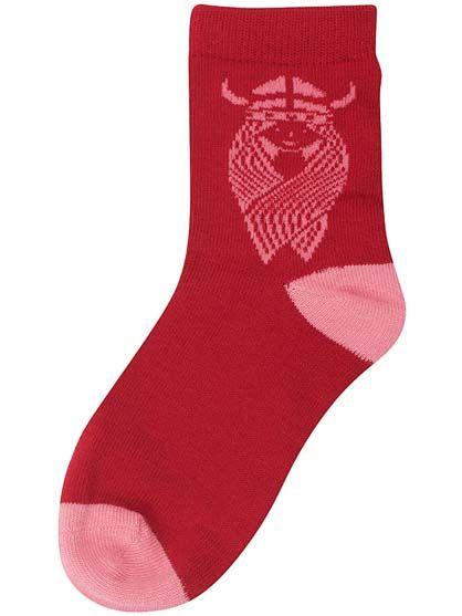 Kids Socks Dark Red/s. pink FREJA