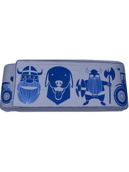 Bed Bumper Marine/ porcelaine blue ERIK