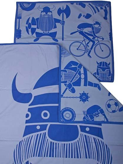 Bed Linen Adult Marine/ porcelaine blue ERIK