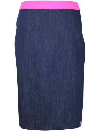 Image of   Niptuck Skirt Dk Indigo