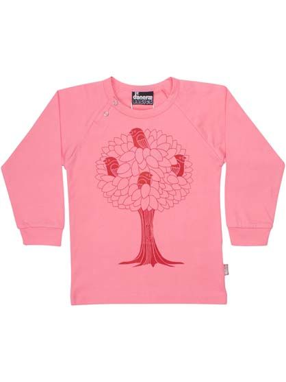 Image of   Baby basic tee Super Pink BIRDTREE