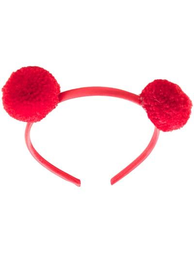 Pompom Hairband Red