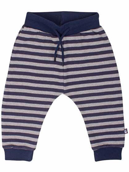 Silver pants Navy/lt htr grey
