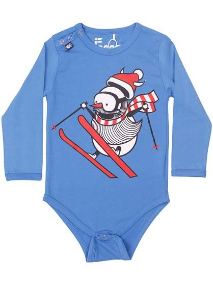 Image of   Baby body Dream Blue SNOWMAN