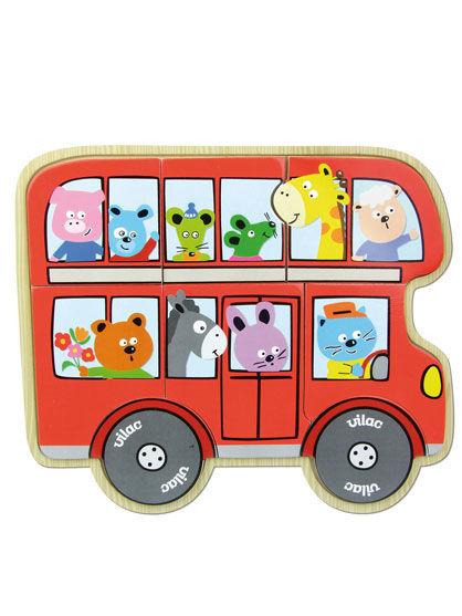 Image of   Room2Play Mit første puslespil - bussen