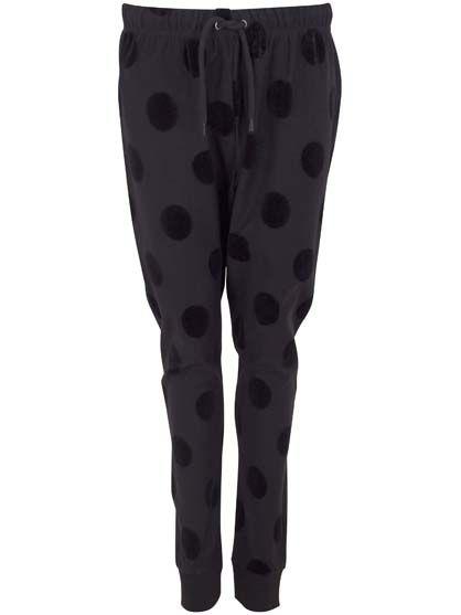 Cicogna Pants Black DOTS