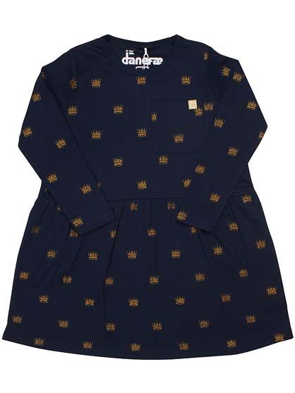 Image of   Anchor dress Navy Gold Crowns