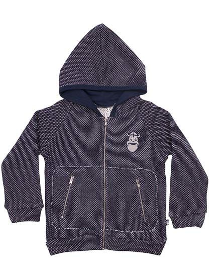 Image of   Big Daddy Zip up Navy/BrknWhite