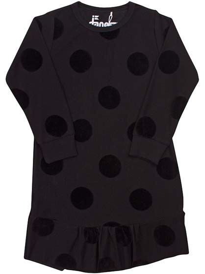 Manny Dress Black DOTS