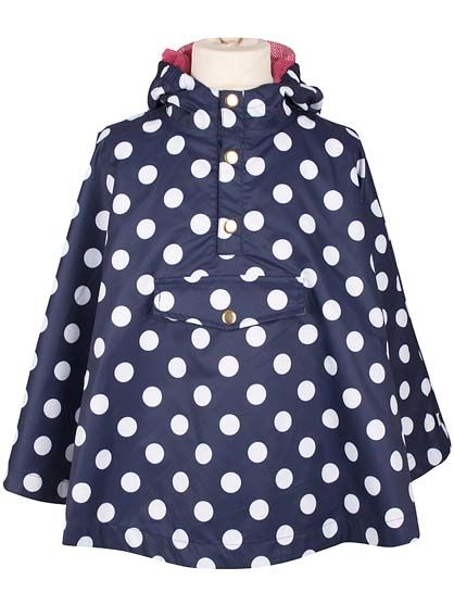 Image of   La Poncho Navy/Offwhite DOTS