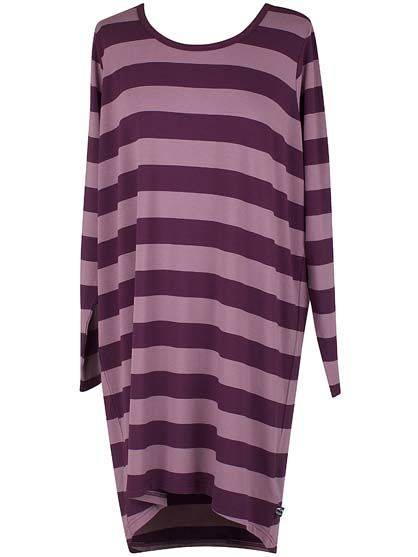 Fiore Wool Tunic Dark Plum/Grey Lila