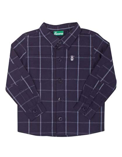 Image of   Chip Overshirt Indigo Plaid
