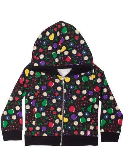 ZipNRoll hoodie Black Fruity
