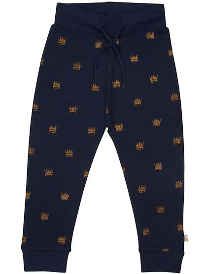 Petra Pants Jr Navy Gold Crowns