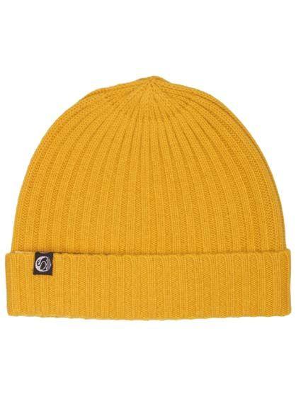 Cash Rib Beanie Dark Yellow