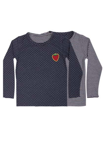 Image of   Beagle tee Navy/Off white DOTS