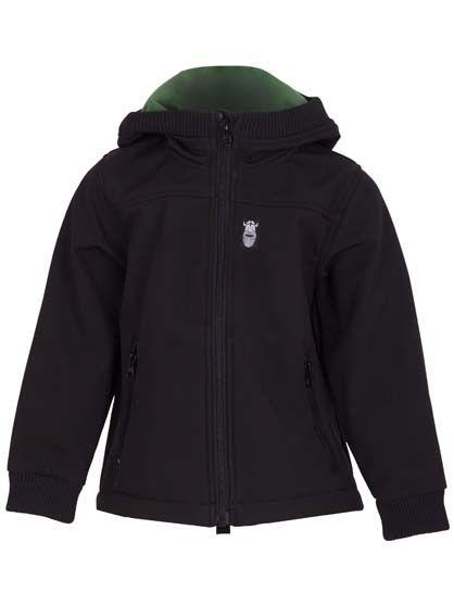 Image of   Bandit Softshell Black (Khaki fleece)