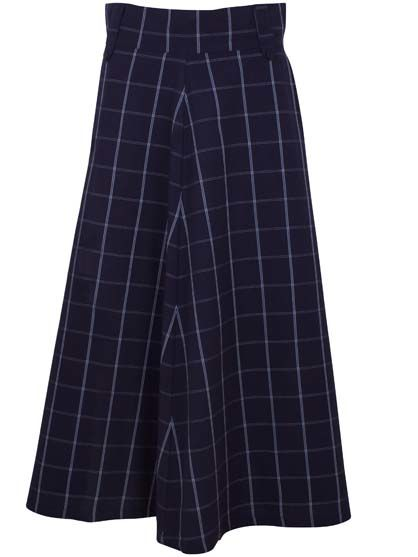 Ballo Skirt Indigo Plaid
