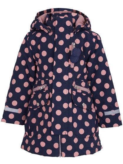 Kirstine Winter Jacket Dark Night/Dry Rose DOTS