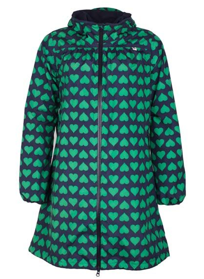 Helen Rainjacket Navy/Green HEARTS
