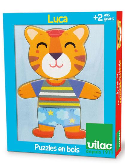 Image of   Room2Play Puslespil, klæd Tigeren Luca på