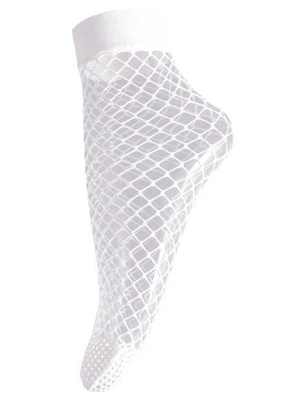 Image of   Big Fishnet Sock White 5526