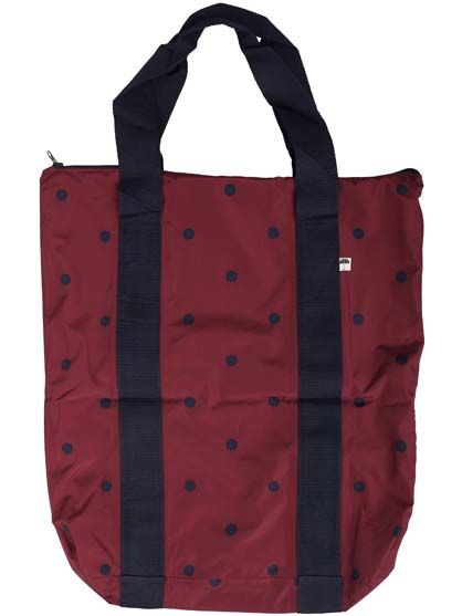 Baglady Burgundy/Navy DOTS