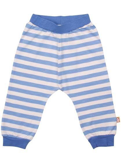 Image of   Baboon baby pants Water Blue/Off White