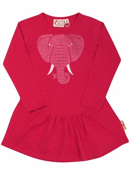 Image of   Busy Bee Dress Raspberry ELEFANT
