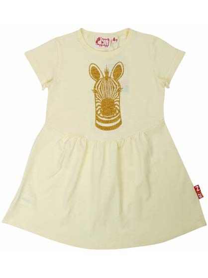 Image of Butterfly Dress Mild Yellow ZEBRA (80063)