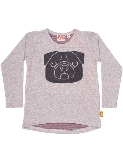 Image of   Curve Tee Htr grey/Warm plum MOPS