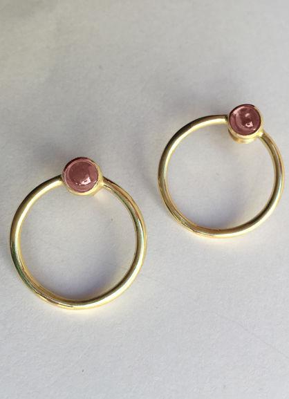 Pinah Øreringe Pink