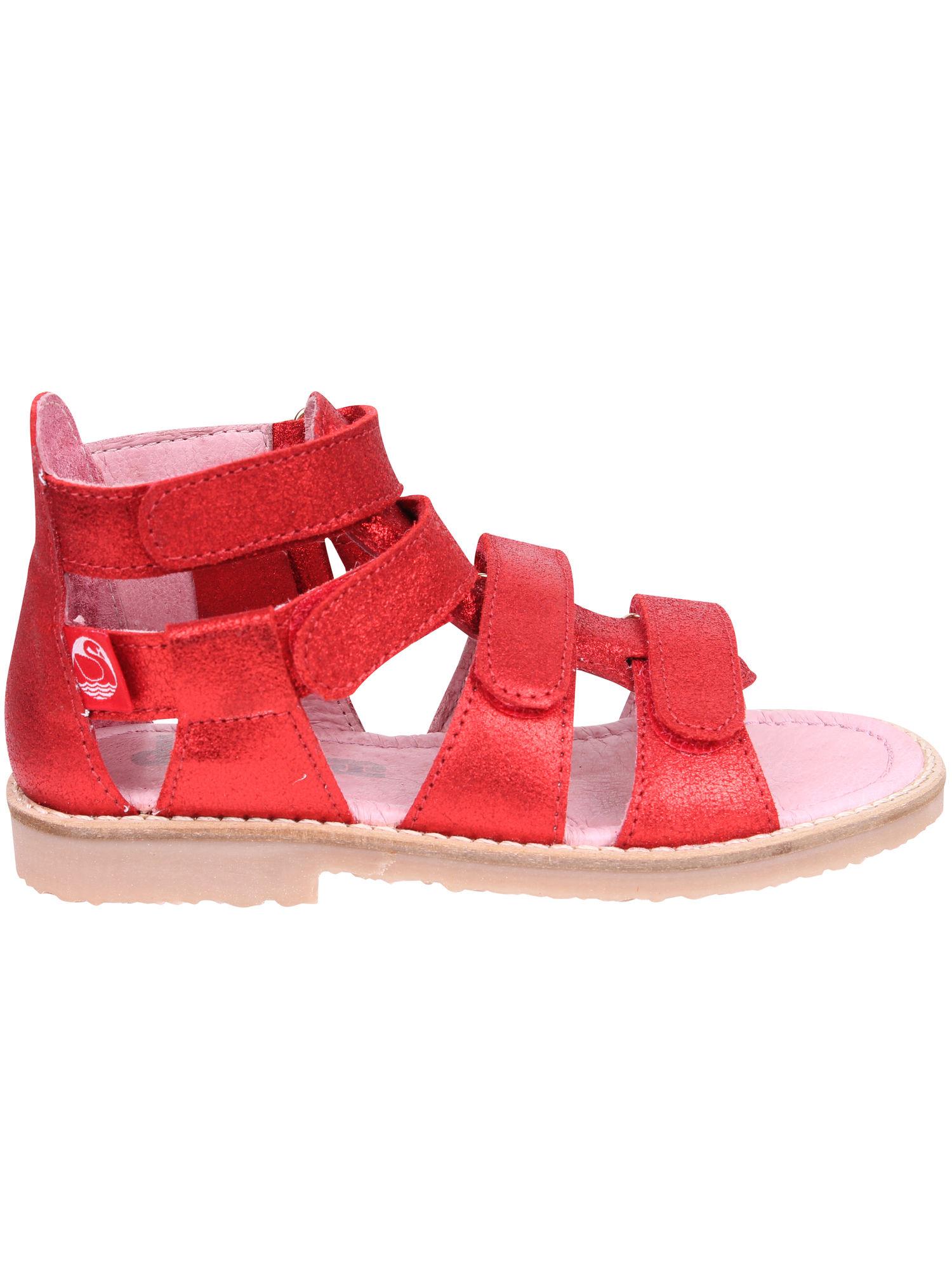 Gladiator sandal (28-37) Red GLITTER