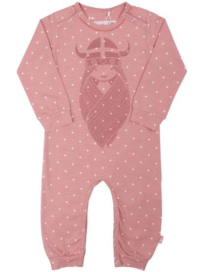 Image of   ORGANIC - Anis suit Blush/Off white DOTS