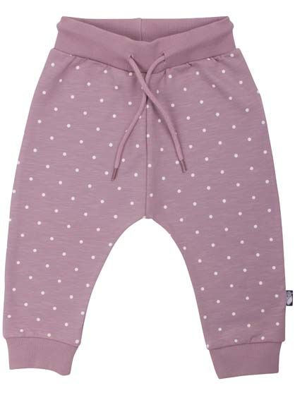 Image of   ORGANIC - Boeg pants Warm Clay/ Offwhite DOTS