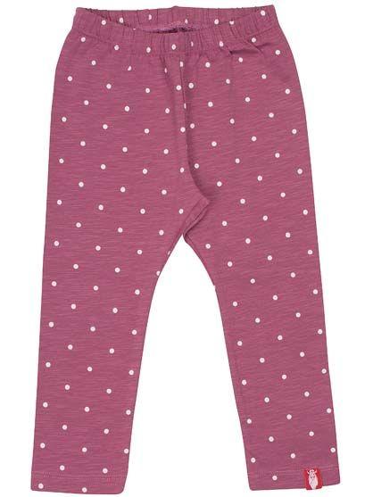 Image of   ORGANIC - Kanel leggings Prune/off white dots