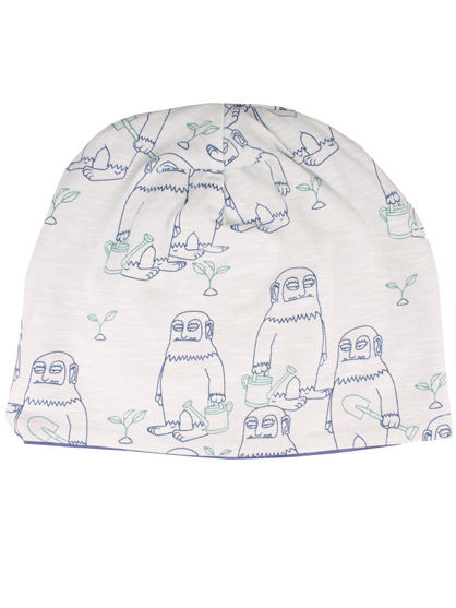 Image of   ORGANIC - Loeg Beanie Plantup/Whale Blue