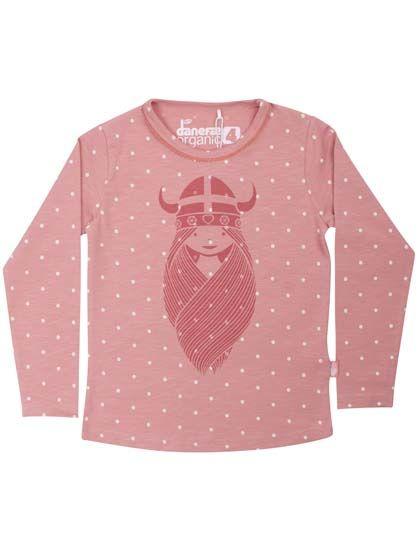 Image of   ORGANIC - Mist blouse Blush/Off white DOTS FREJA