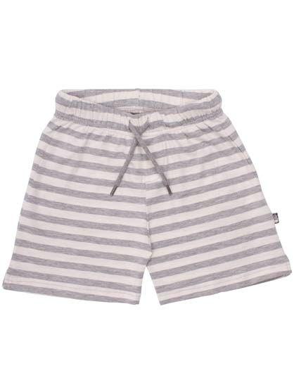 Image of   ORGANIC - Pomerans shorts Htr grey/broken white