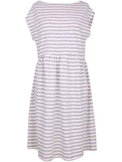 Image of   ORGANIC - Domenica dress Htr grey/broken white
