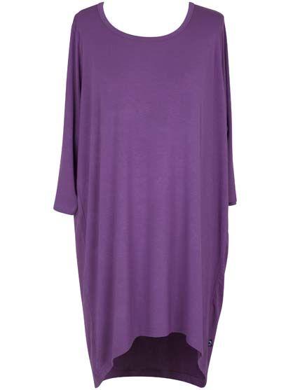 Image of   ORGANIC - Molla 3/4 tunic Dry lavender