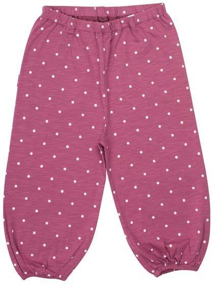 Image of   ORGANIC - Cumin pants Prune/off white dots