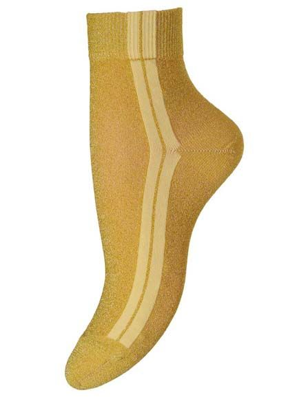Image of   Ankle Viola Yellow Glitter 749