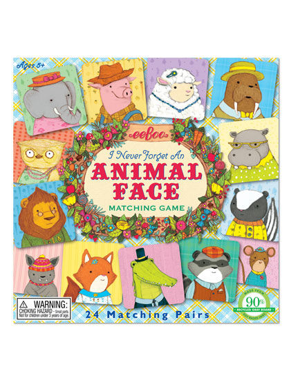 Image of   Room2Play Matching Game, Animal faces