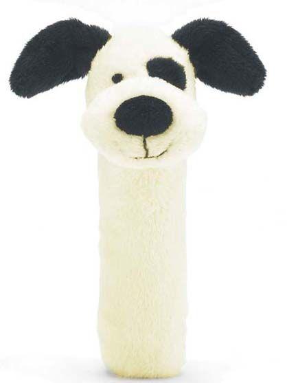 Jellycat Bashful Black and Cream Puppy Squeaker