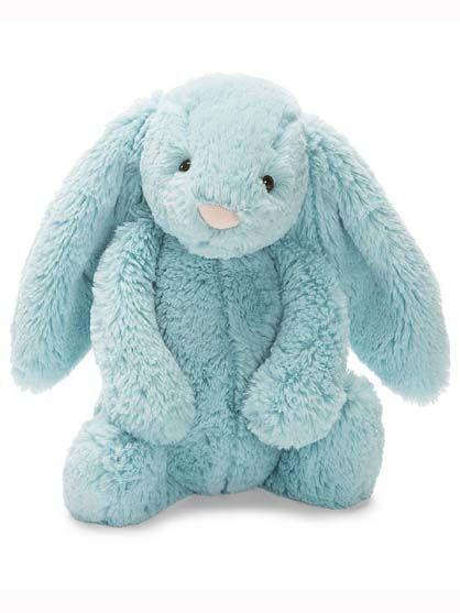 Image of   Jellycat Bashful Aqua Bunny Small